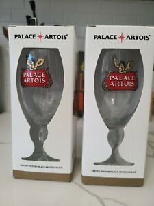 PALACE STELLA ARTOIS limited edition GLASS CHALICE brand new set of 2