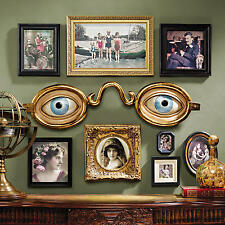 19th Cen Folk Art Replica Optometrists Shop Sign Whimsical Glasses Eyes Wall Art