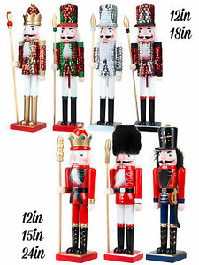Deluxe Traditional Wooden Nutcracker Soldier Decoration Christmas Ornament