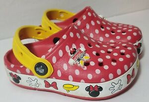 Crocs Disney Mickey Minnie Mouse Light Up Girls Toddler Shoes Sandals Size C 8