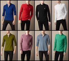 Burberry Brit Para hombres Mangas Largas Camisa Polo Nova Check tapeta S, M, L, XL, 2xl, 3xl