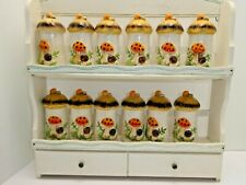 Merry Mushroom Spice Rack with 12 spice shakers