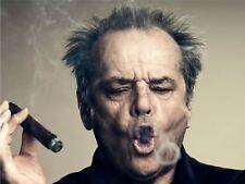 Fotografia Ritratto attore Jack Nicholson fumo di sigaro Anello Poster Art LV11023