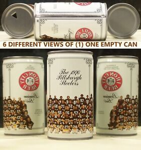 Iron City Beer 12 oz Can 1976 The Pittsburgh Steelers Football Team Picture 84K