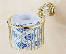 Wall Mounted Paper Towel Basket Gold Crystal Home Toilet Paper Tissue Box Holder