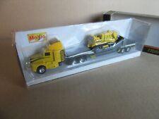 592i Maisto 11021 Transport Hauler mid Truck 18 Wheels Bulldozer 1:87