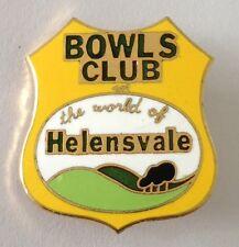 Helensvale Bowling Club Badge Pin Vintage Lawn Bowls (L21)