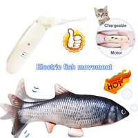 Wagging Cat Electric Fish movement Catnip Plush Simulation Cats Fish Toy