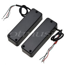 4 String Electric Bass Guitar Pickups Humbucker Double Coil Bridge Neck Black