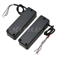 4 CORDE ELECTRIC BASS Guitar Pickup Humbucker DOUBLE coil ponte manico nero
