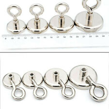 Neodym Magnete Magnethaken Topfmagnet mit Öse 20mm - 70mm Stark Magnete