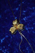 Vintage Necklace - Beautiful Golden Flower Lariat
