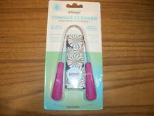 Dr Tung's Tongue Cleaner Adjustable PINK Sealed in Package with Travel Pouch