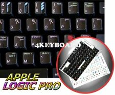 Apple Logic Pro Keyboard sticker black background