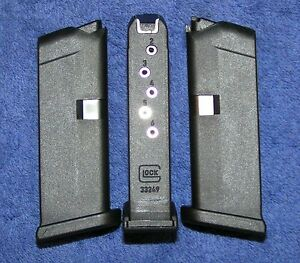 3 Glock 42 mags Holds 6 rounds of .380 new magazine x 3