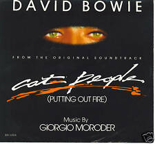 DAVID BOWIE Cat People (Putting Out Fire)  rare soundtrack 45 with PicSleeve
