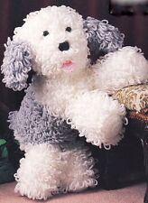 "Dulux Old English Sheepdog Toy Puppy Crochet Pattern  12"" Tall Great Gift !"