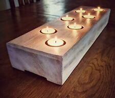 Reclaimed Rustic Solid Oak Tea Light Candle Holder
