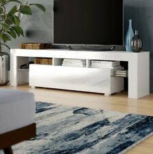 LED TV Stand TV Cabinet with Single Drawer White