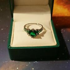 10Carat 10K White Gold Sapphire Ring