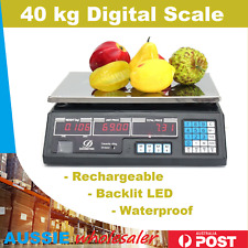 Kitchen Digital Electronic Scale 40KG Shop Weight Scales Food Commercial