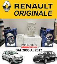 KIT TAGLIANDO ORIGINALE RENAULT CLIO 1.2 BENZINA / GPL + OLIO ELF 5W40
