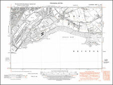 Barry Docks, Sully, old map Glamorgan 1947: 51NW repro Wales