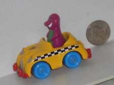 Vtg. 1993 Lyons Group/Kid Dimension: Barney the Dinosaur Taxi Cab Small Car Toy
