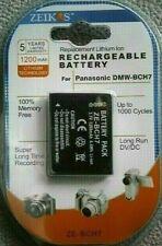 Zeikos LONG-LIFE Replacement Digital Camera Battery for Panasonic Lumix DMW-BCH7