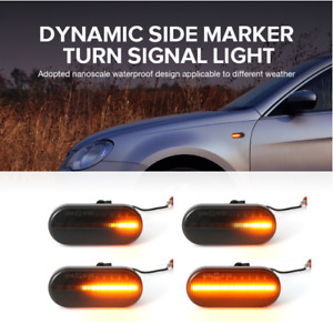 2x VW T5 TRANSPORTER DYNAMIC LED SEQUENTIAL SMOKED SIDE REPEATER INDICATOR