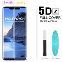 5D Full Glue Screen Protector For Huawei P30 Pro Mate 20 UV Tempered Glass Film