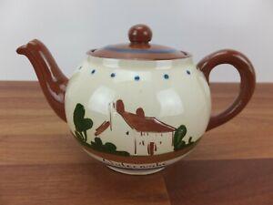 Vintage Dartmouth Pottery Devon MOTTO WARE Widecombe - Tea Pot