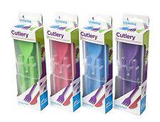 Sistema Fold Away Plastic Cutlery Set Knife Fork Spoon & Chopsticks BPA Free