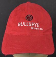 Red Bullseye Glass Co Logo Souvenir Embroidered Baseball Hat Cap Adjustable