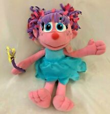 "Pink Blue Abby Cadabby 12"" Sesame Street Talking Rag Doll"