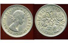 GREAT BRITAIN - ROYAUME UNI  six pence 1964   ( etat )