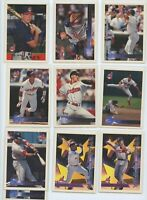 1996 TOPPS CLEVELAND INDIANS TEAM SET (24 Cards) CASEY DP, BAERGA, THOME, BELLE