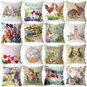 Easter Rabbit Printed Pillow Case Sofa Car Cushion Cover Home Decor Wholesale