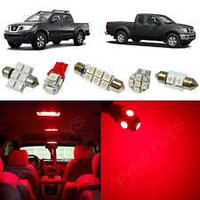 5x Red LED lights interior package kit for 2005-2014 Nissan Frontier NF1R