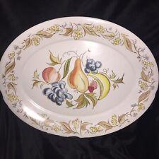"Large Vintage Kenro Festivity Fruit 19 7/8"" x 15 3/8"" Turkey Platter Melmac Usa"