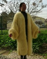 Oversized HandKnitted  Mohair  Bernadette Long Coat  Sweater by  LanaKnittings