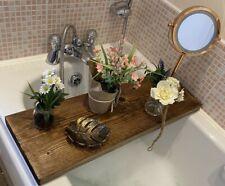 Rustic, Hand Made, Wooden Bath Board / Caddy, Bespoke Gift