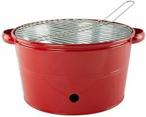 Heavy Duty Metal Bucket BBQ With Stainless Steel Top 3 Colours