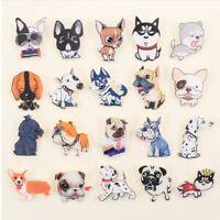 Mix Dog Husky Pitbull Dalmatians Pug Brooches Acrylic Badges Joke Pin Brooch