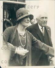 1928 Lady Nancy Astor With Frank Kellogg Press Photo