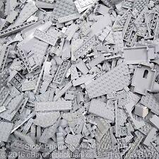 "LEGO 1/4lb MEDIUM STONE/LIGHT BLUISH ""NEW"" GREY~100 Pieces-SANITIZED-Bulk Pound"