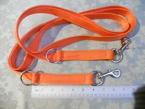 6ft strong Police style double clip training lead working dog handler security