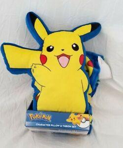 Pokemon Character Plush Pillow & Throw Set NIP