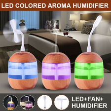 Aroma Humidifier Colored Essential Oil Diffuser Air Purifier + Fan + Led Light