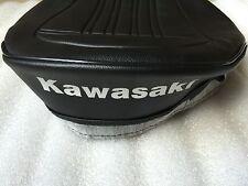 KAWASAKI KV75 MT1 REPLACEMENT SEAT COVER WHITE DYED LOGO 1979 MODEL.